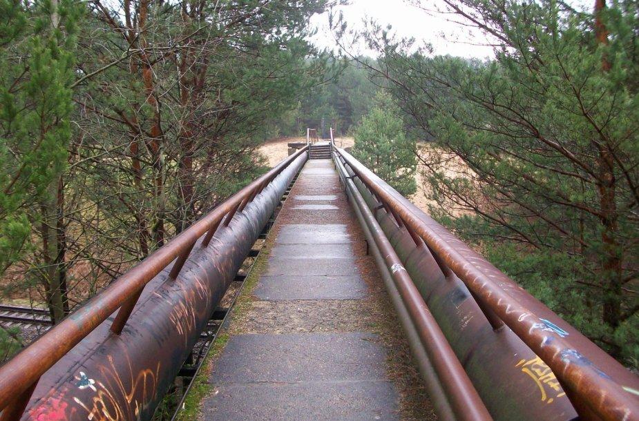 Pėsčiujų tiltas, vedantis į Petrašiūnų vandentiekį
