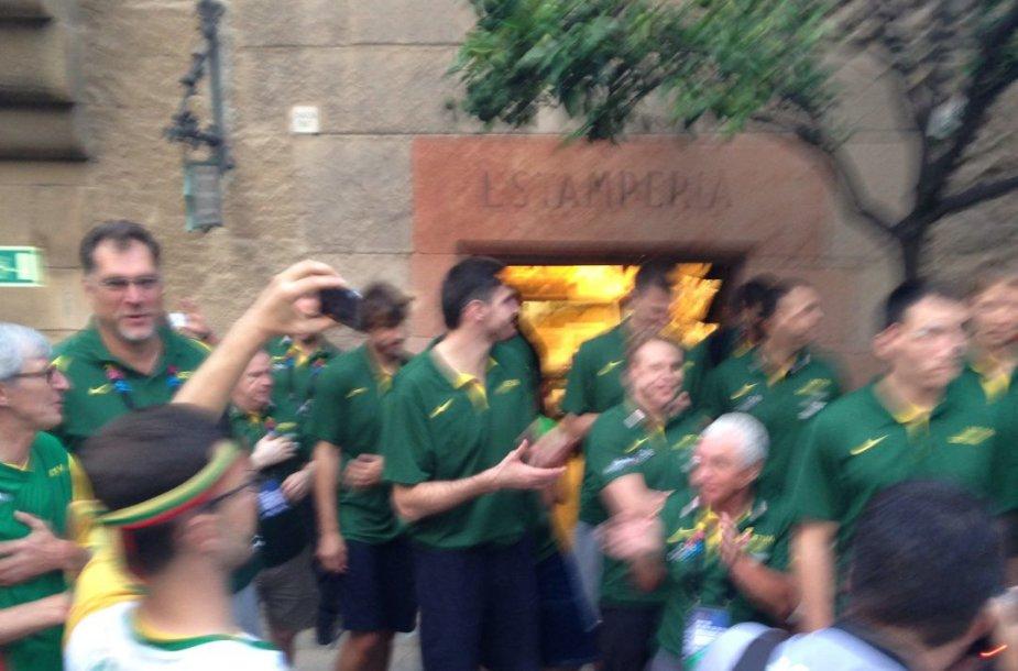 Krepšinio sirgaliai Barselonoje