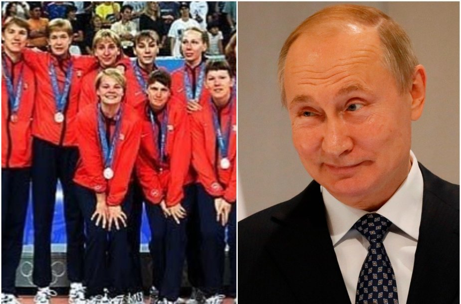 Vladimiras Putinas ir Rusijos olimpiečiai