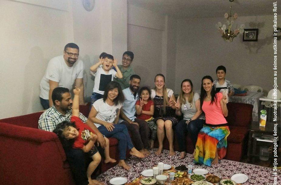 Ramadano vakaras su viena iš Sirijos pabėgėlių šeimų