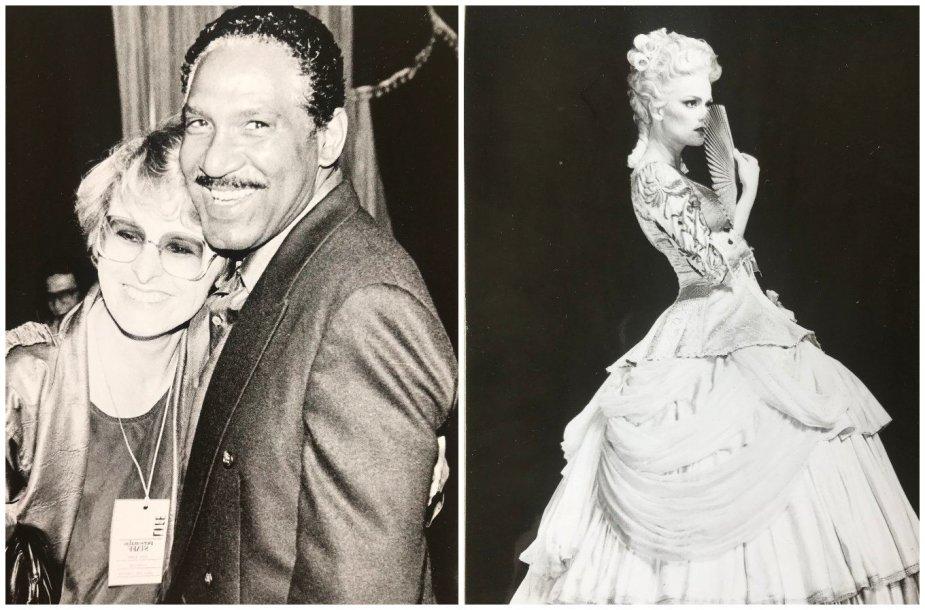 """Rūta Vanagaitė bei kadras iš Ingmaro Bergmano spektaklio, rodyto LIFE, """"Markizė de sad"""""""