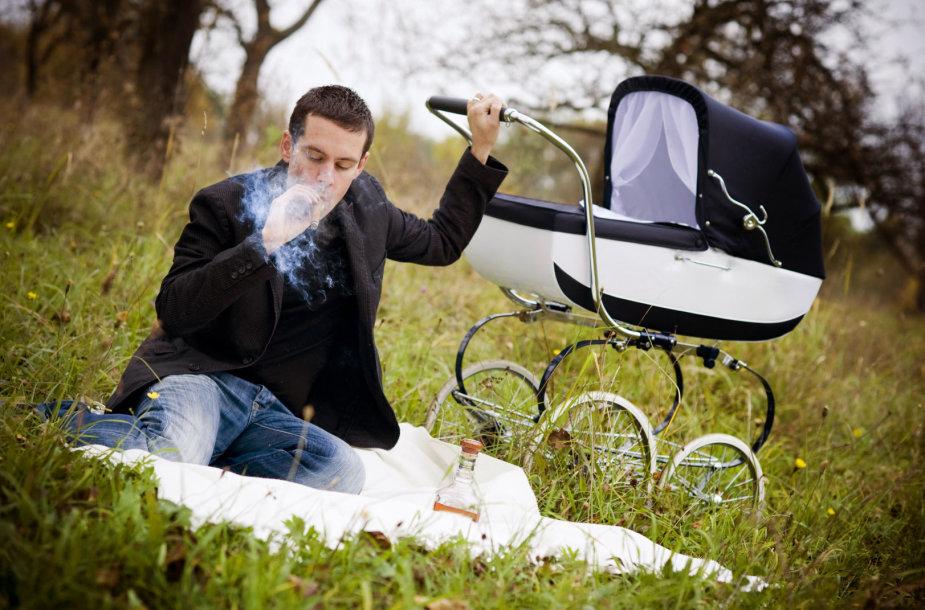 Rūkantis vyras