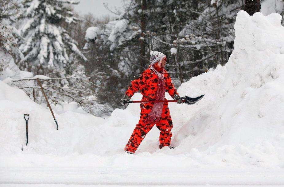 Sniegas JAV Niujorko valstijoje