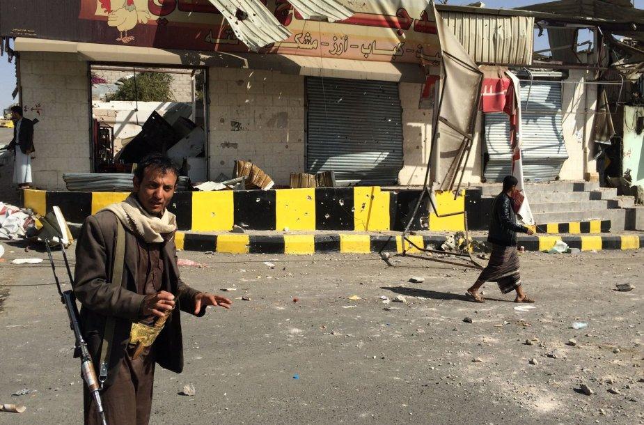 Jemeno sostinės Sanos gatvė