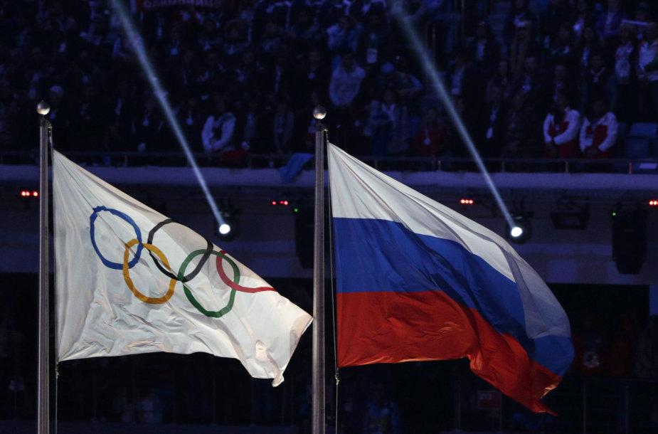 IOC ir Rusijos vėliavos