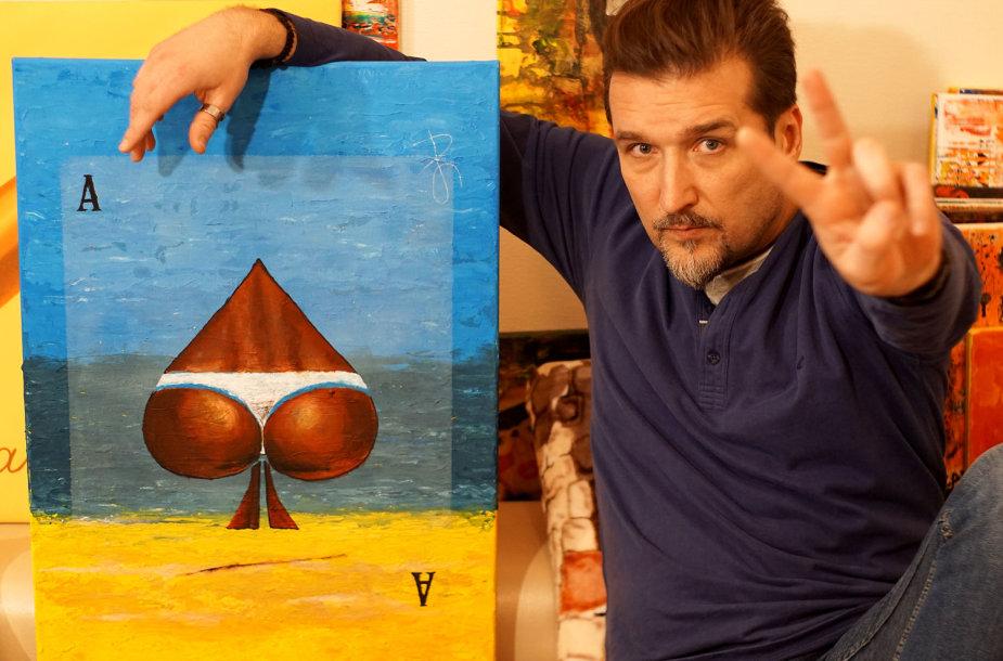 Arvydas Gaičiūnas pristatė savo tapybos parodą