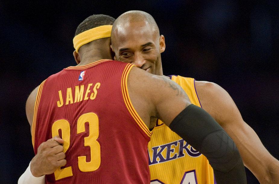 LeBronas Jamesas ir Kobe Bryantas