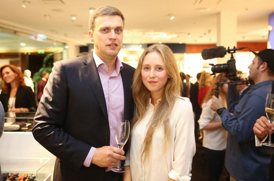 Dainius Adomaitis su dukra Urte
