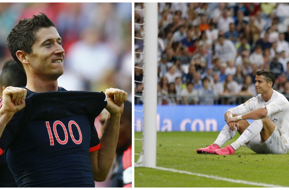Robertas Lewandowskis ir Cristiano Ronaldo