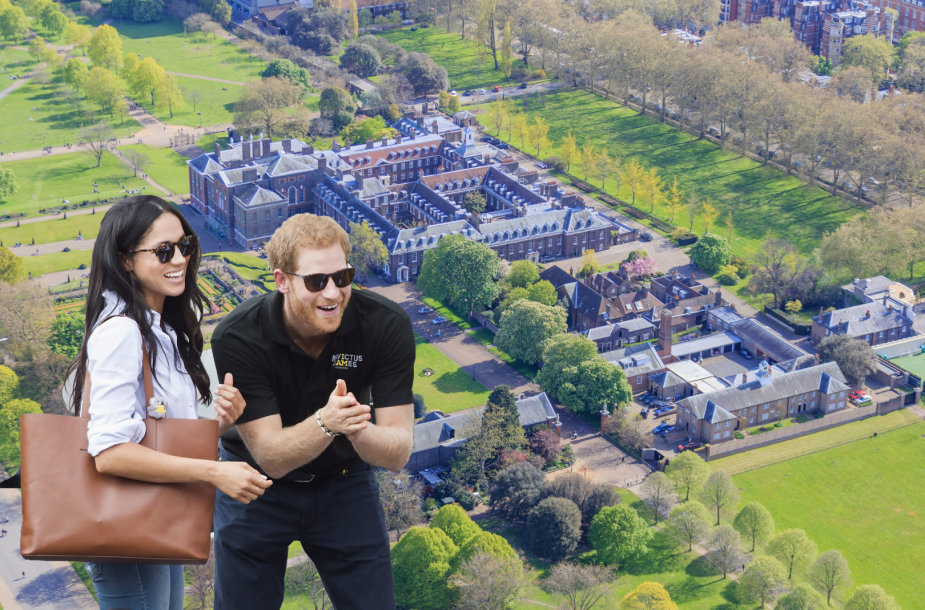 Meghan Markle kraustosi pas princą Harry į Kensingtono rūmus
