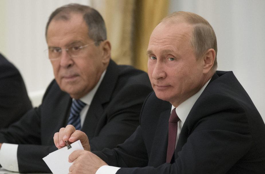 Vladimiras Putinas ir Sergejus Lavrovas