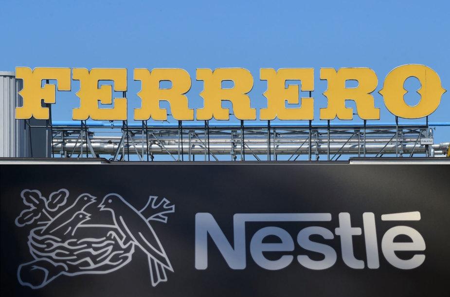 """Nestle"" ir ""Ferrero"" logotipai"
