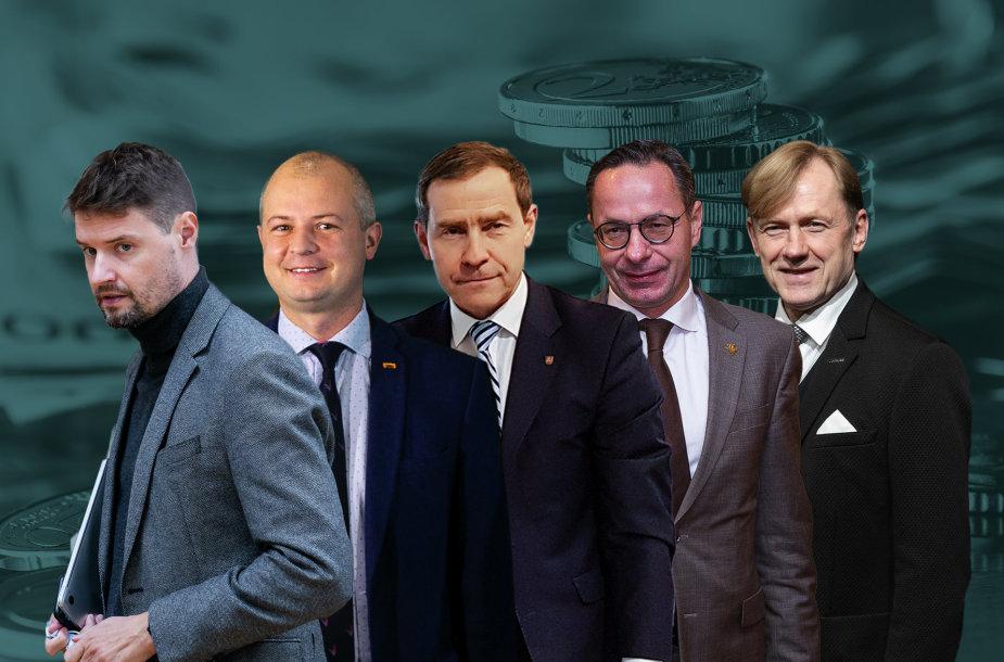 Kandidatai į Seimą, sulaukę verslininkų paramos