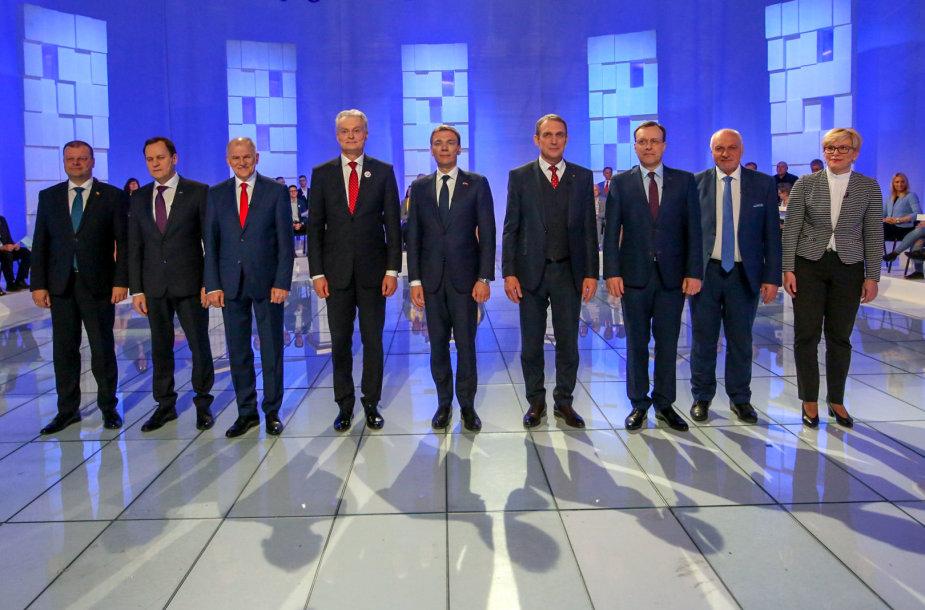 Kandidatų į Prezidentus debatai LRT studijoje