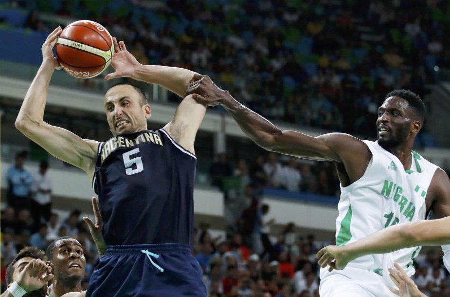Argentina olimpiados starte įveikė Nigeriją