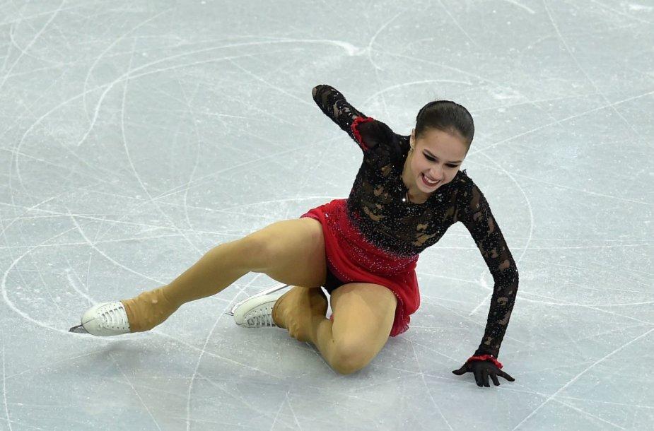 Alina Zagitova liko antra Europos čempionate Minske.