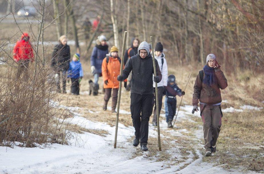 Atidaryta nauja pėsčiųjų ir slidinėjimo trasa
