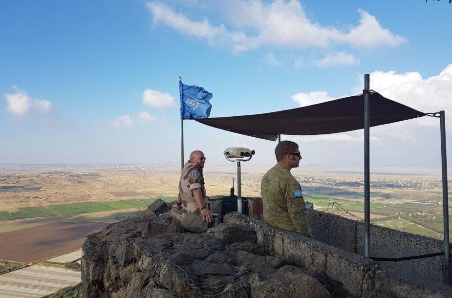 JT taikdariai Golano aukštumose