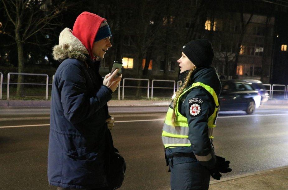 Kauno pareigūnai budėjo prie pėsčiųjų perėjų