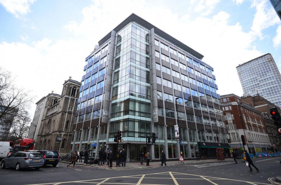 """Įmonės """"Cambridge Analytica"""" biuras Londone"""