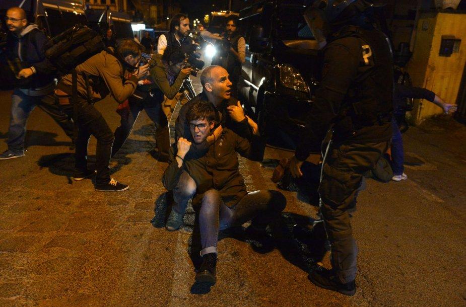 Protestuotojai Italijoje