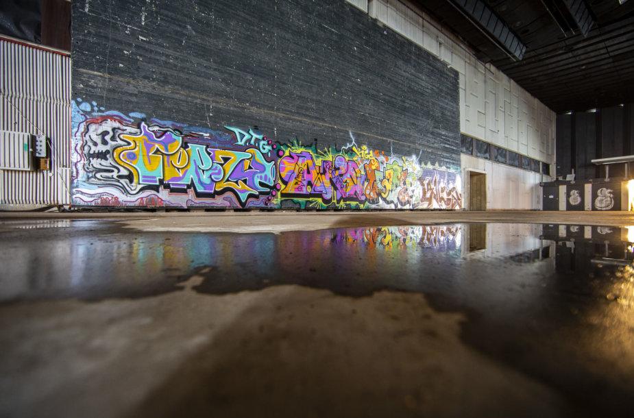 Rūmų scena: anksčiau koncertavo muzikantai, dabar dailina grafitininkai