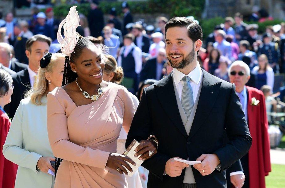 Serena Williams ir jos vyras Alexis Ohanianas