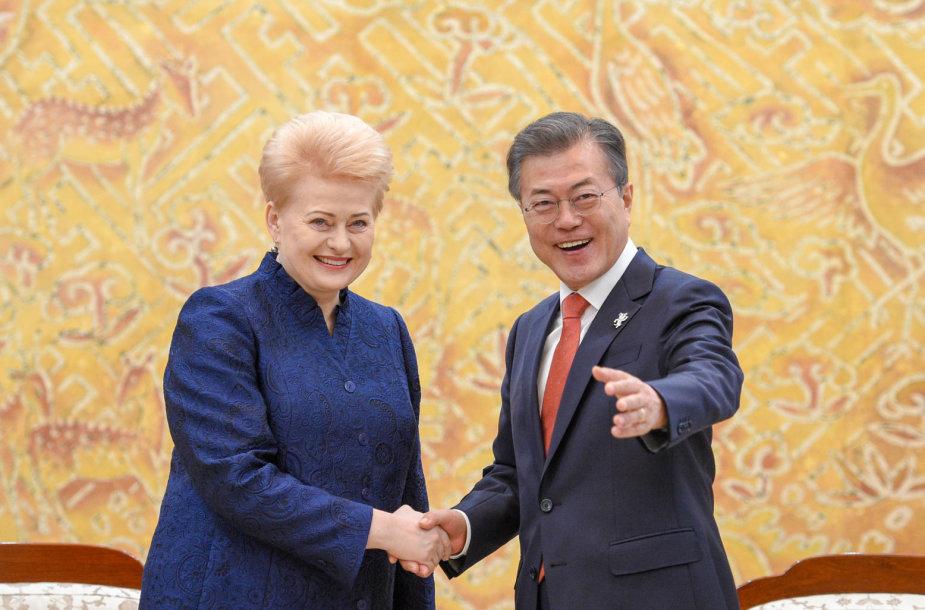Prezidentė susitiko su Korėjos Respublikos Prezidentu Moon Jae-Inu