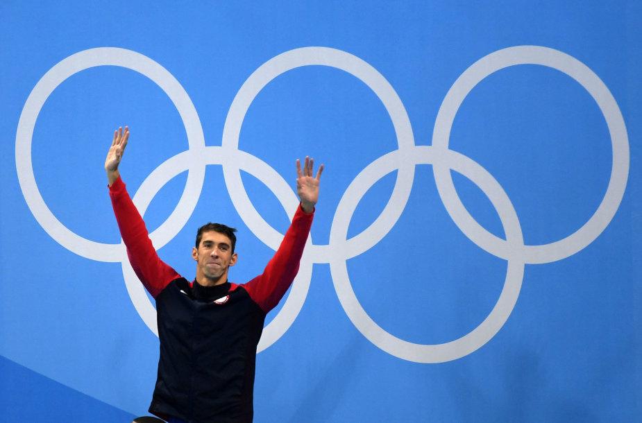 Michaelas Phelpsas toliau kuria istoriją