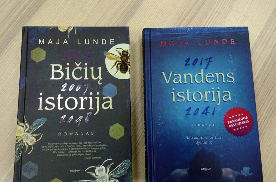 """Majos Lunde knygos: """"Bičių istorija"""" ir """"Vandens istorija"""""""