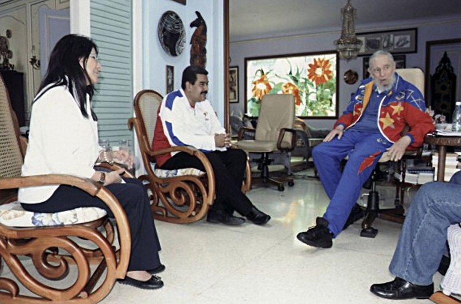 Fidelis Castro ir Nicolas Maduro