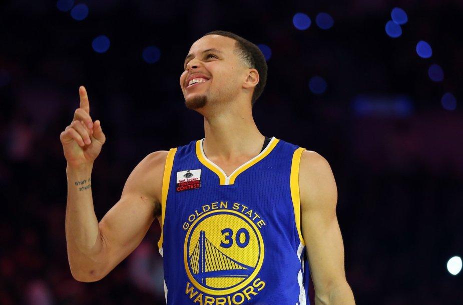 """""""Golden State Warriors"""" ekipos žaidėjas Stephenas Curry"""