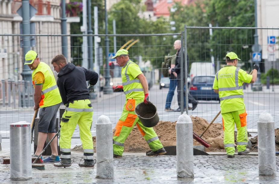 Vilniaus gatvė iki planuojamos rekonstrukcijos pabaigos likus kelioms valandoms