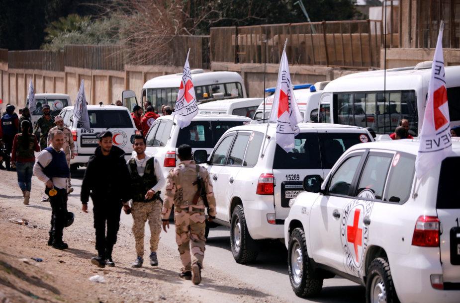 Humanitarinė pagalba pasiekė Rytų Gutą