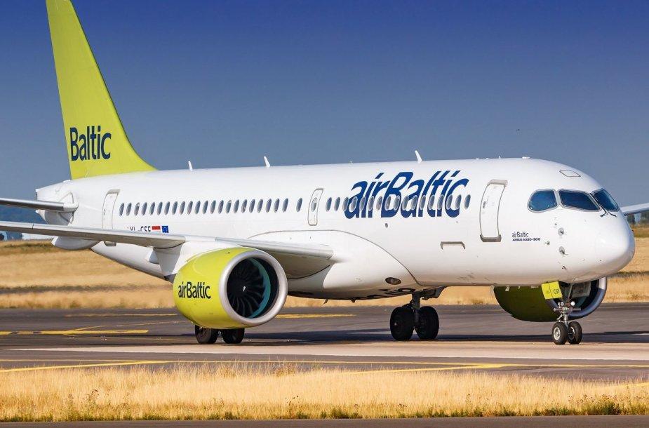 """""""AirBaltic"""" keleiviai iš Vilniaus skraidys moderniu lėktuvu"""