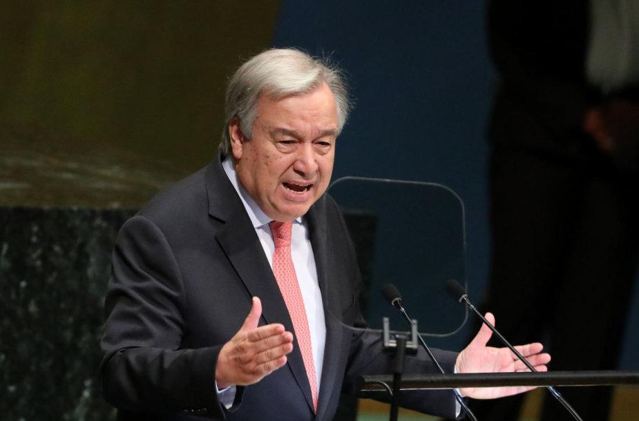 JT generalinis sekretorius Antonio Guterresas