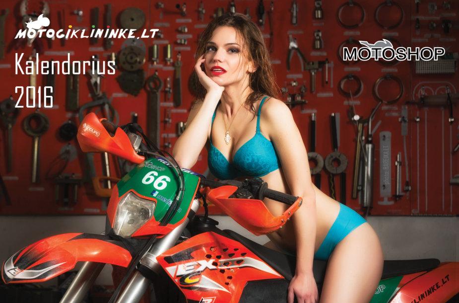 Motociklininke.lt kalendoriaus viršelis