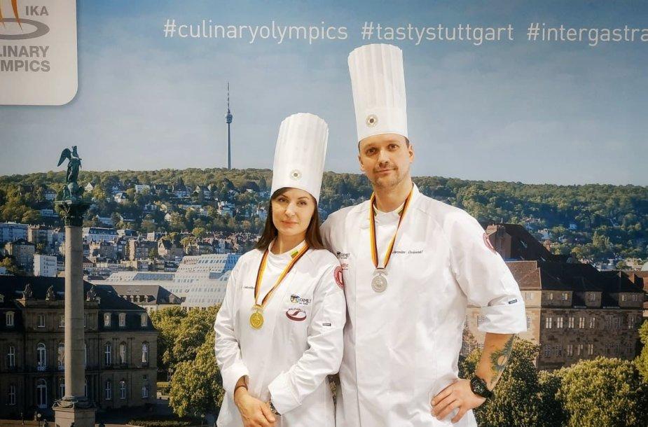 Dovilė Valentienė ir Jaroslav Orševski tapo kulinarijos olimpiados medalininkais