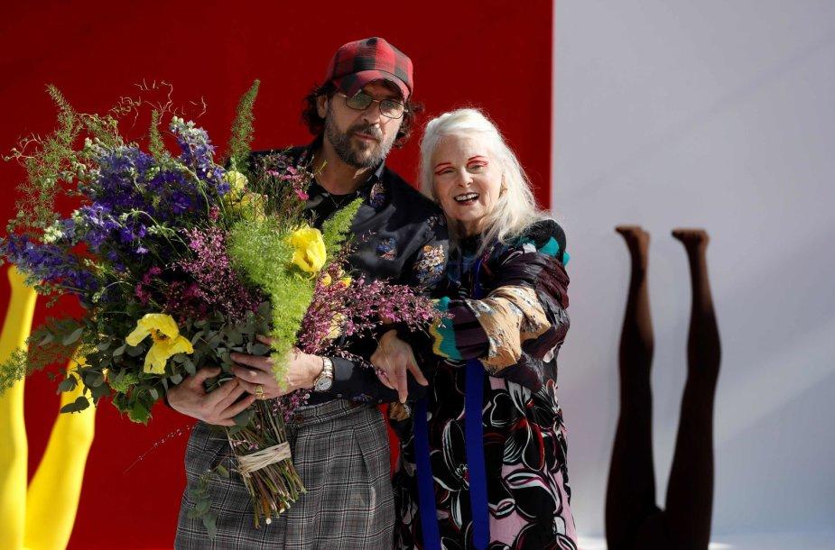 Vivienne Westwood su partneriu Andreasu Kronthaleriu