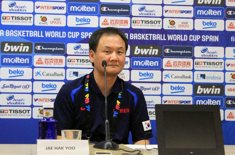Pietų Korėjos rinktinės treneris Jaehakas Yoo