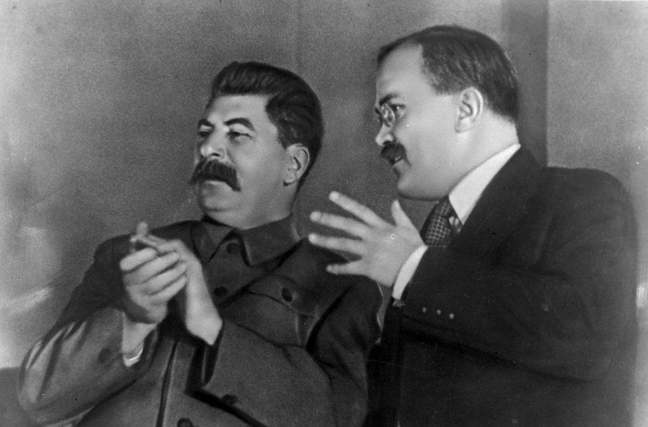 Josifas Stalinas ir Viačeslavas Molotovas
