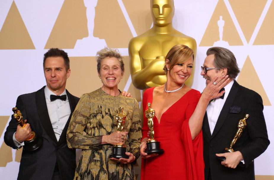 Samas Rockwellas, Frances McDormand, Allison Janney ir Gary Oldmanas