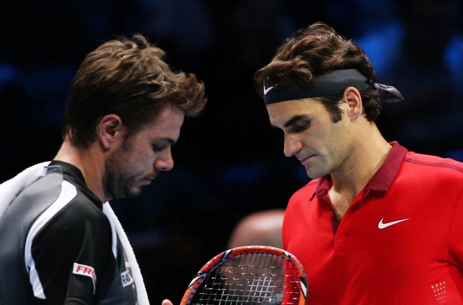 Stanislasas Wawrinka ir Rogeris Federeris