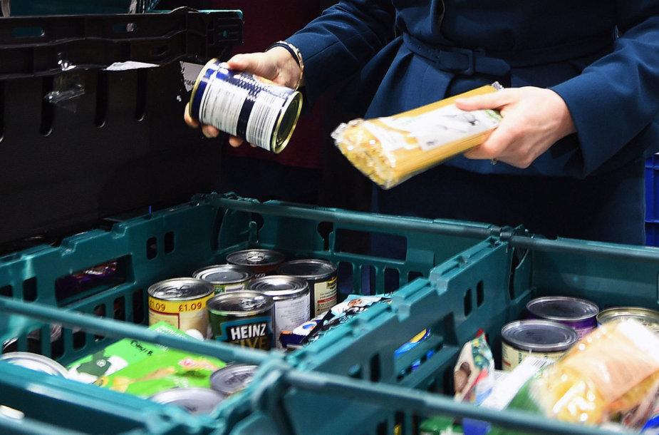 Produktai Jungtinės Karalystės maisto banke