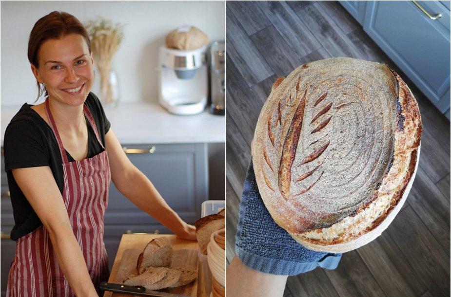 Simona Petraitienė ir jos kepta raugo duona
