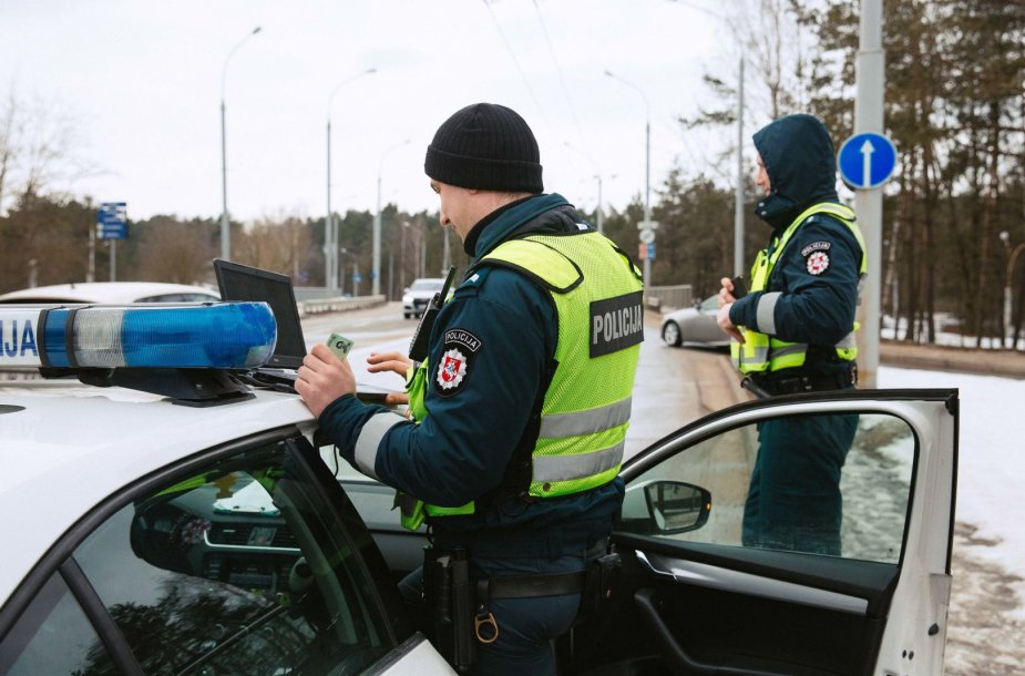 Vilniaus kelių policijos reidas Lizdeikos gatvėje