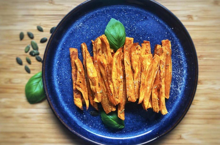 Saldžiųjų bulvių lazdelės