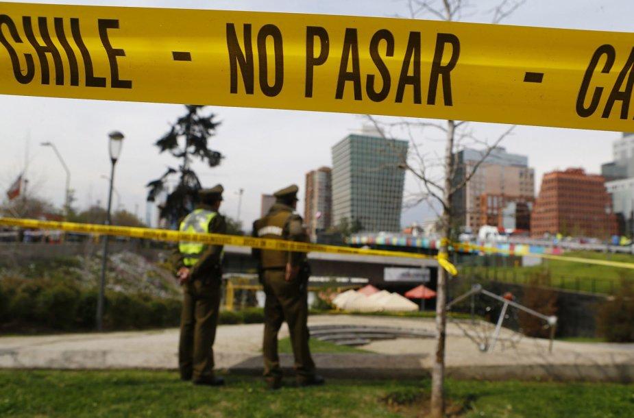 Santjago miesto greito maisto restorane sprogo savadarbė bomba