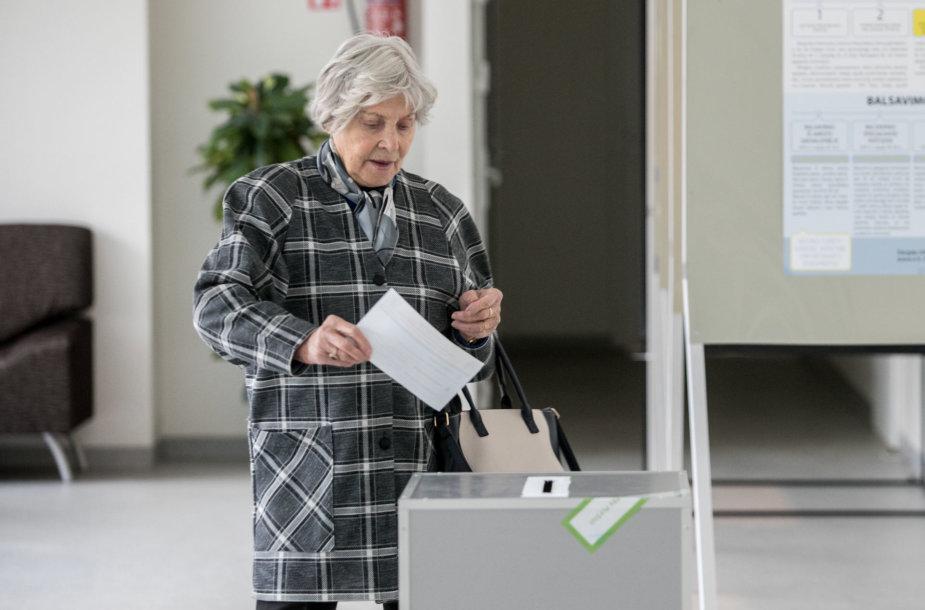 Seimo rinkimų antrasis turas Žirmūnuose
