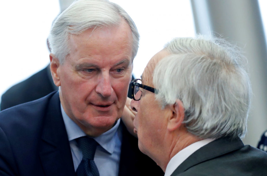 Michelis Barnier ir Jeanas-Claude'as Junckeris